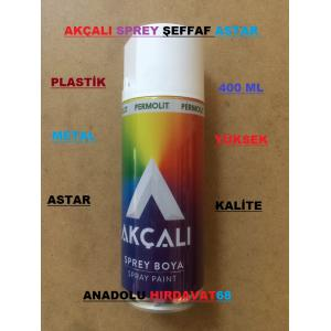 AKÇALI SPREY TAMPON ASTARI PLASTİK BOYA ASTARI 400 ML ŞEFFAF