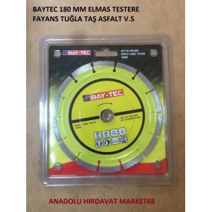 BAYTEC 180 MM ELMAS TESTERE SERAMİK BETON TUĞLA KESİCİ DİSK