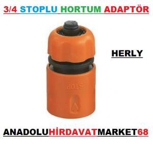 HERLY STOPLU HORTUM MUSLUK BAĞLANTI ADAPTÖRÜ 3/4 HORTUM