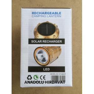 IPONE Solar Güneş Enerjili Şarjlı Led Kamp Feneri Lamba Usb