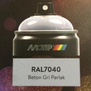 MOTİP CARAT 400 ML- BETON GRİ - SPREY BOYA RAL 7040 GERMANY