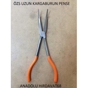 ÖZS UZUN KARGABURUN PENSE EĞRİ UÇLU 280 MM KARGABURNU