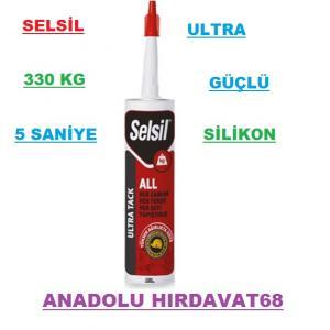 SELSİL GÜÇLÜ SİLİKON YAPIŞTIRICI TABLO TABELA YAPIŞTIRICI 330 KG