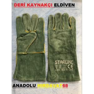 STARLİNE YÜKSEK KALİTE KAYNAKÇI ELDİVENİ E-083 DERİ ELDİVEN 10NO