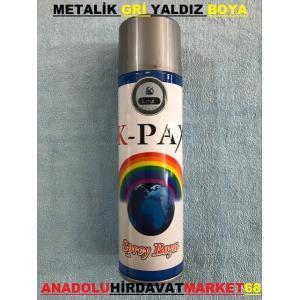 KPAX METAL GRİ YALDIZ SPREY BOYA 170 ML GRİ RENK SPREY BOYA