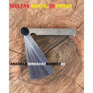 İZELTAŞ SENTİL FİLLER ÇAKISI 0,05-1MM SENTİL TAKIMI 20 PARÇA