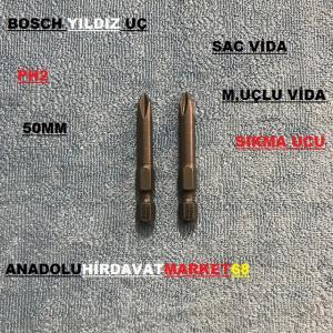 BOSCH PH2 YILDIZ UÇ BİTS UÇ SUNTA VİDA UCU 50 MM 10 ADET