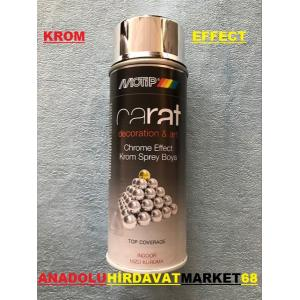 CARAT 400 ML KROM EFEKT SPREY BOYA PARLAK KROM RENK