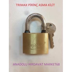 TRIMAX PİRİNÇ ASMA KİLİT 50 MM PASLANMAZ CONTALI ASMA KİLİT