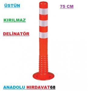 ÜSTÜN 75 CM DELİNATÖR PARK UYARI DİREĞİ PARK İŞARET DUBASI