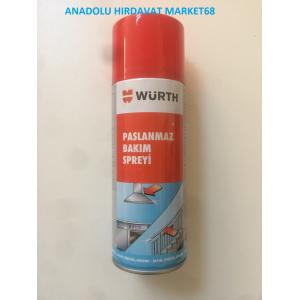WÜRTH 400 ML PASLANMAZ KROM ÇELİK BAKIM SPREYİ GERMANY
