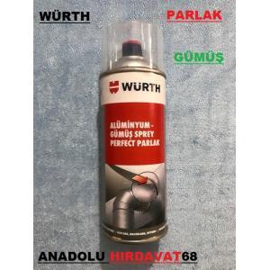 WÜRTH PARLAK GÜMÜŞ SPREY BOYA GÜMÜŞ PERFECT BOYA 400 ML GERMANY